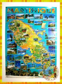 POSTER CARTE MARTINIQUE