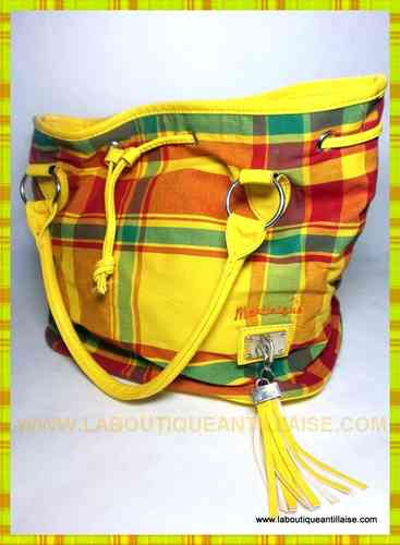 SAC MADRAS JAUNE MARTINIQUE