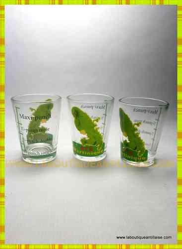 VERRE A PUNCH MARTINIQUE VERTS