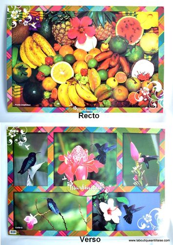 SET DE TABLE FRUITS
