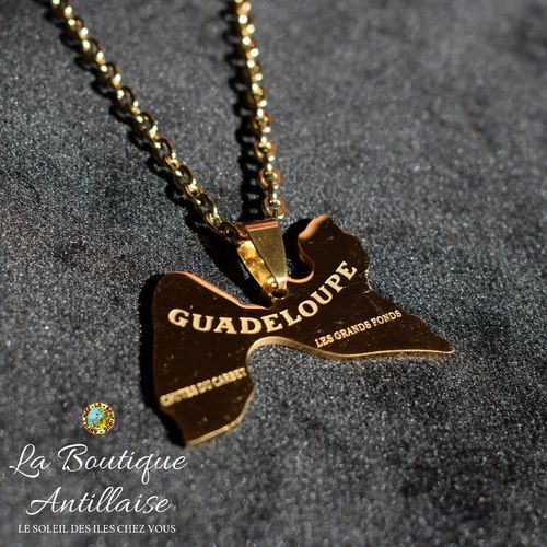 COLLIER PENDENTIF GUADELOUPE OR