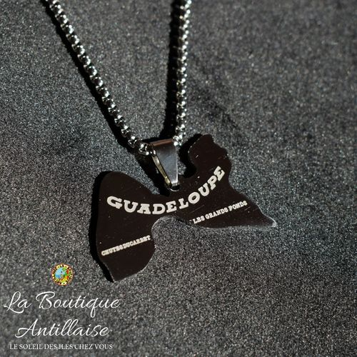 COLLIER PENDENTIF GUADELOUPE ARGENT